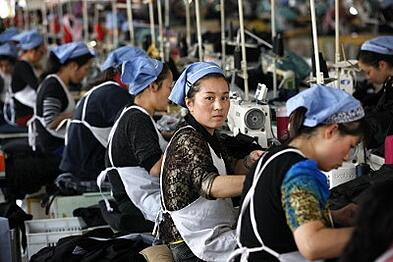 China's fading garment and textiles industries