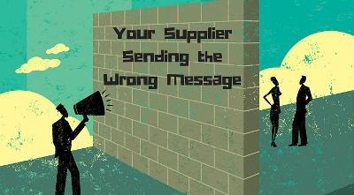 Supplier Miscommunication